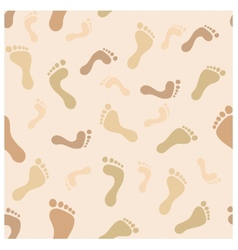 Bare foot imprint seamless pattern vector
