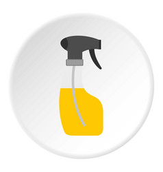 Sprayer bottle icon circle vector