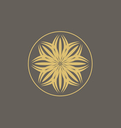 Luxury logo design template vector