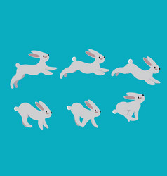 Animation cycle of running a harerabbit motion vector