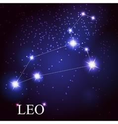 leo zodiac sign of the beautiful bright stars vector image