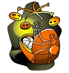 Halloween lullaby vector