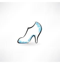 women shoe grunge icon vector image