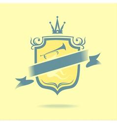 Musical emblem vector