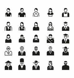 People icon symbol logo set vector