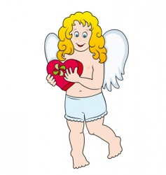 valentines day angel vector image