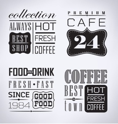 Set of coffee cafe label vector