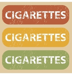 Vintage cigarettes stamp set vector