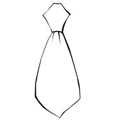 Tie clothing accessoire vector