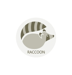 Stylized silhouette of a raccoon vector