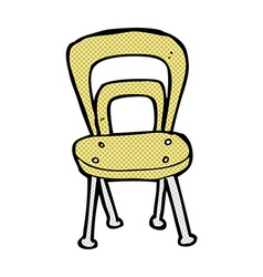 Comic cartoon chair vector