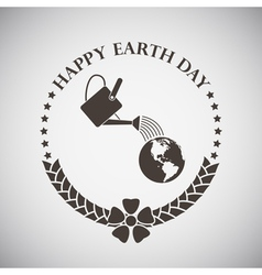 Earth day emblem vector
