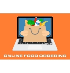 Concept for online ordering of food vector