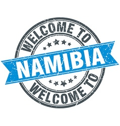 Welcome to namibia blue round vintage stamp vector