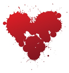 Red splash heart vector