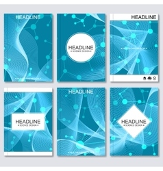 Science background modern templates vector
