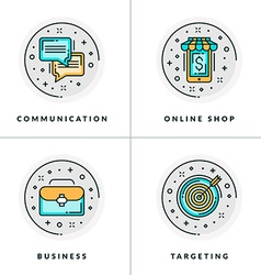A set of four icons on business issues vector
