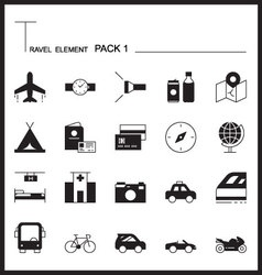 Travel element line icon setpack 1mono graph pack vector