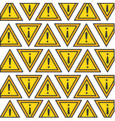 alert sign pattern background vector image