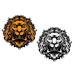 Angry lion head vector