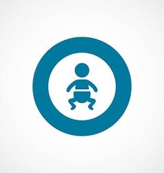 Baby bold blue border circle icon vector