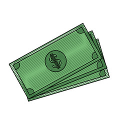 banknote bank money currency cash vector image