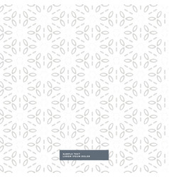 Beautiful flower pattern background vector