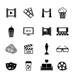 Black and white movie icon designs vector