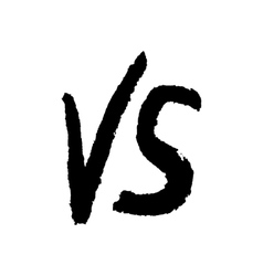 black water color versus sign vector image vector image