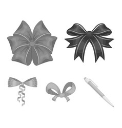 Bow ribbon decoration and other web icon in vector