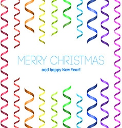 Christmas card with serpentine vector image vector image