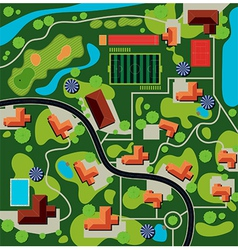city plan vector image