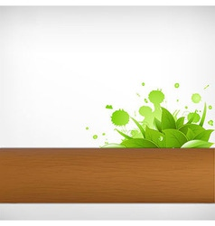 Eco Wood Background vector image vector image