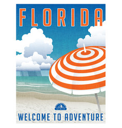 Florida travel poster or sticker vector