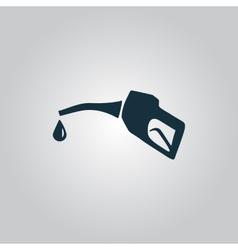 Gasoline pump nozzle sign vector image