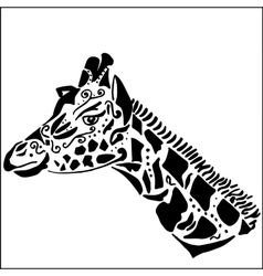 Giraffe tattoo for coloring vector