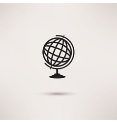 Globe Icon in the flat style vector image
