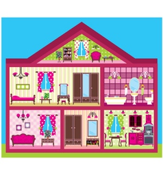 House for the girl in a cut vector image vector image
