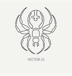 Line flat plain wildlife fauna icon black vector