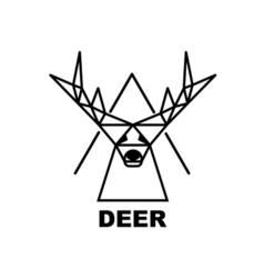 Logo deer vector