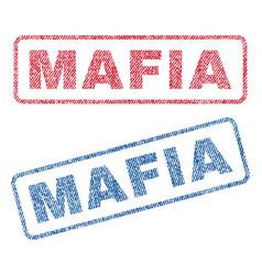 mafia textile stamps vector image