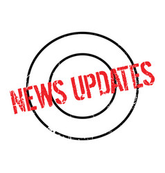 News updates rubber stamp vector