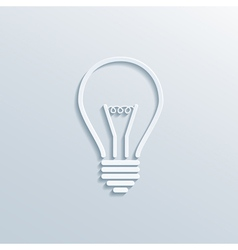 paper bulb vector image