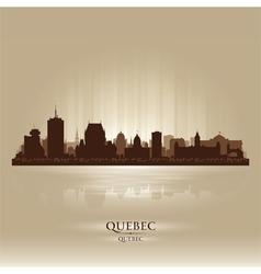Quebec Canada skyline city silhouette vector image vector image