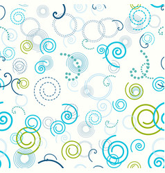 seamless pattern swirls spiral circle abstract vector image