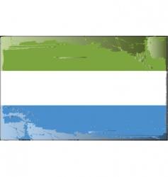 Sierra leone national flag vector