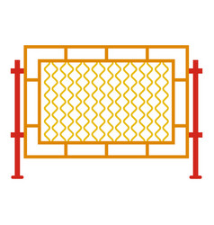 Square fence icon cartoon style vector