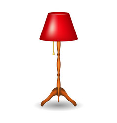 Stand lamp in retro design with shadow vector