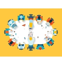 Teamwork Business brainstorming top view vector image