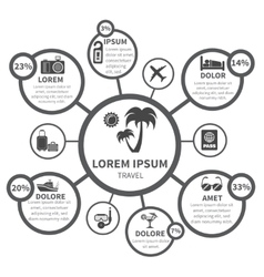Vacations travel infographics design elements vector